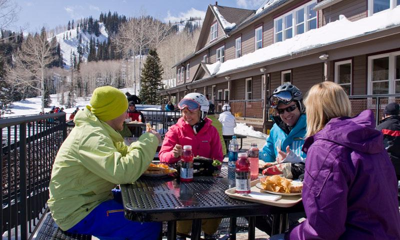 Dining on the Deck at Park City Mountain Resort