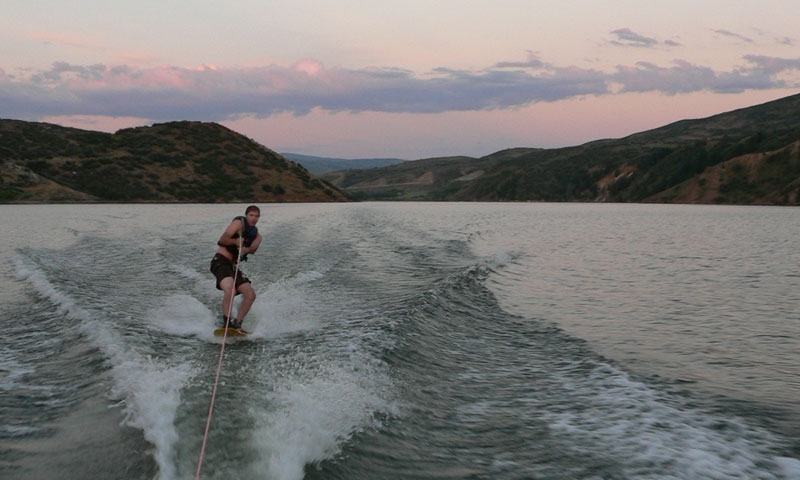 Wakeboarding on the Jordanelle