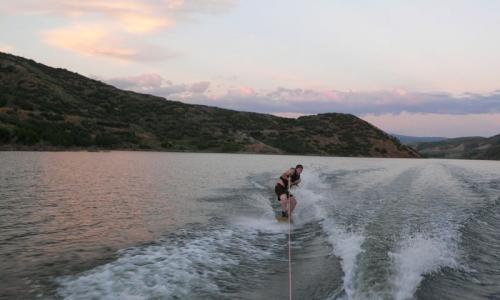 Jordanelle Reservoir Utah Wakeboarding