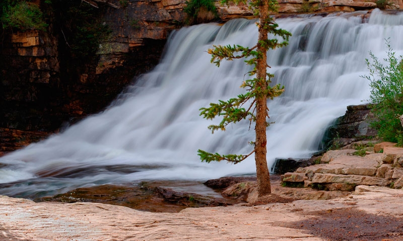 Provo River Falls in the Uinta Mountains