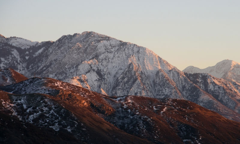 Mount Olympus in the Wasatch Mountains