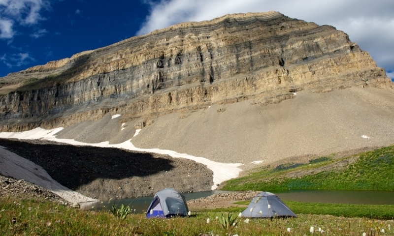 Camping near Mount Timpanogos in the Wasatch Range