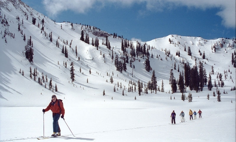 Backcountry Skiing from the Canyons