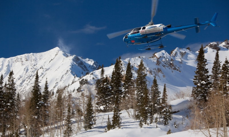 Heli Skiing in the Wasatch Mountains