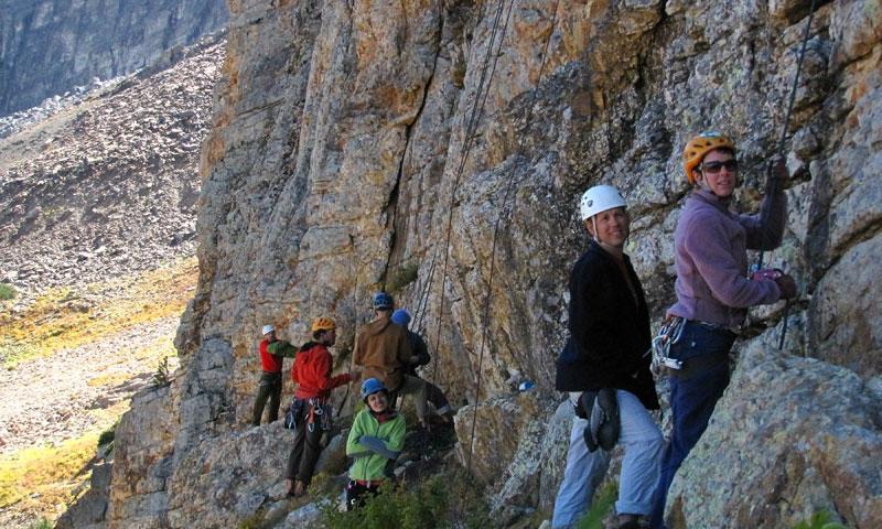 Climbing in Albion Basin near Alta