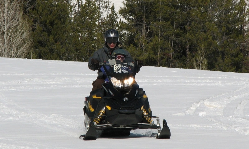 Snowmobiling in Logan Canyon