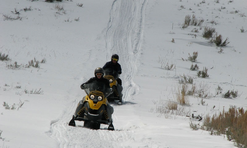 Snowmobiling at Garff Ranch