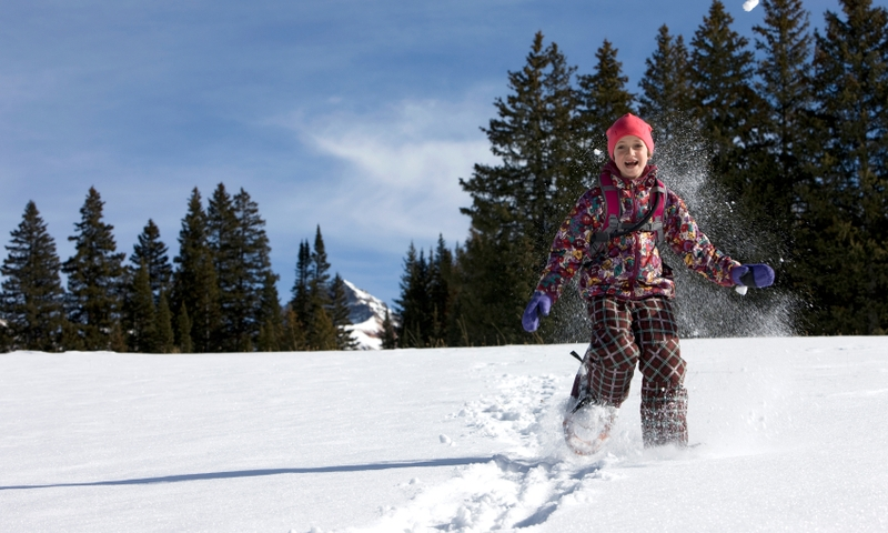 Snowshoeing Winter Kids