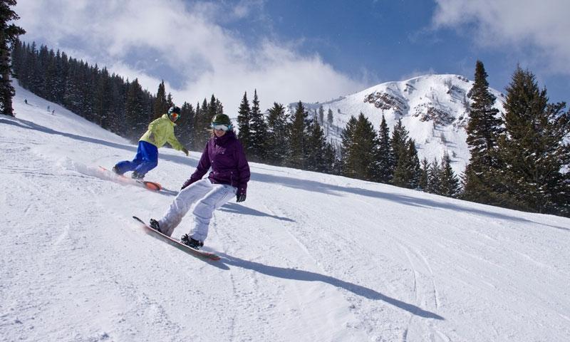 Snowboarding at Park City Mountain Resort